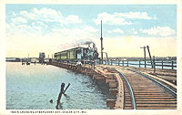 historical photo of railroad extension to Ocean City barrier island