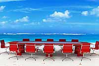 Conference-Table-on-the-Beach