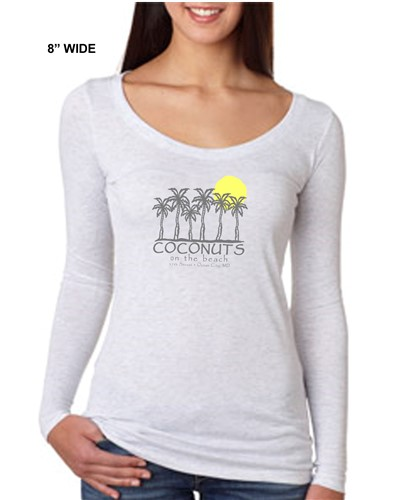 Ladies-Long-sleeve-coconuts-on-the-beach