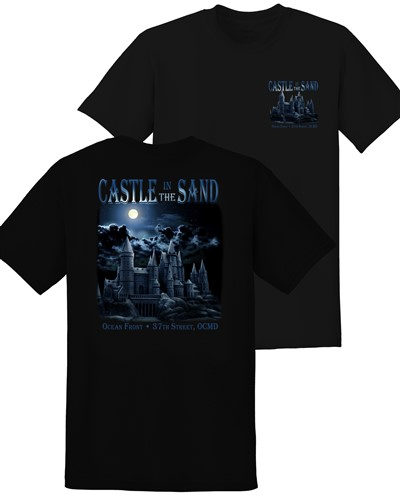 Castle-in-the-sand-black-tee-shirt