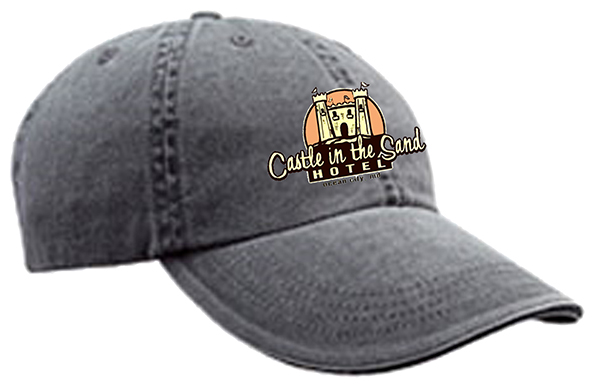 CASTLE HAT LOGO SAND CASTLE MOCK UP EMBROIDERY-Coal