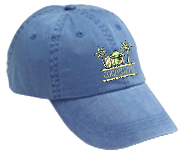 Coconuts Tiki Hat Logo mockups-Deck Blue