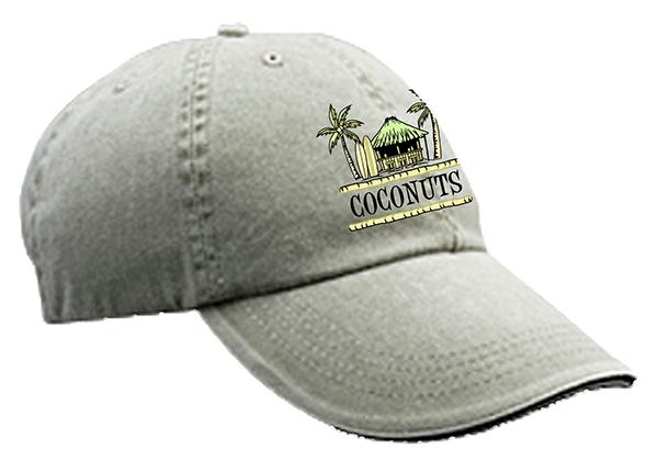 Coconuts Tiki Hat Logo mockups-Khaki