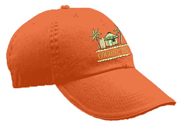Coconuts Tiki Hat Logo mockups-Tangerine