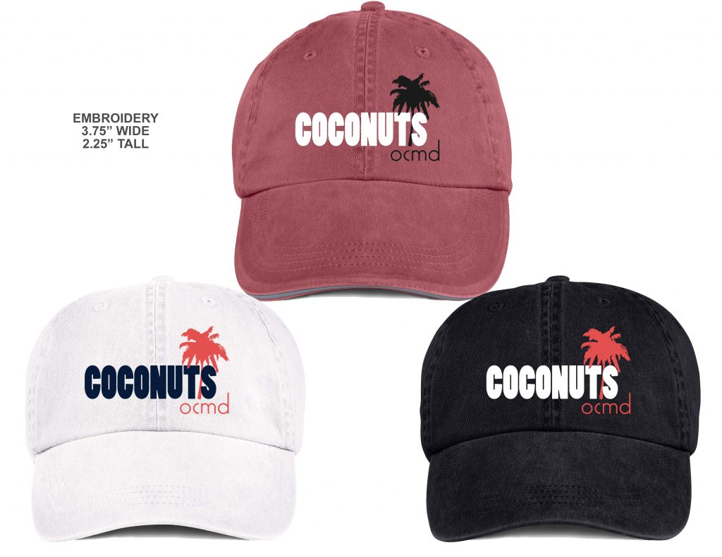 Coconuts Fun Stuff Happens Hat Embroidery mockups _28002_29